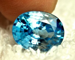 CERTIFIED - 8.0 Ct. Blue VVS Southeast Asian Zircon - Gorgeous