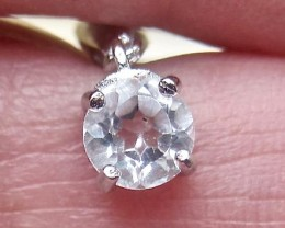 Hand made 1.056 carat white Topaz on 0.925 sterling silver pendant list $29