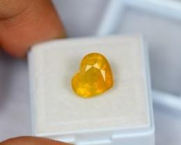 5.78Ct Natural Yellow Sapphire Heart Cut Lot V1187