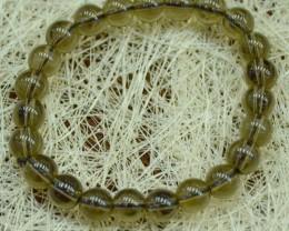 83.70 CT Brown quartz Stone Bracelet 8 mm