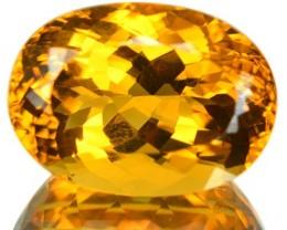 18.88 Cts Natural Golden Orange Citrine Oval Cut Brazil Gem