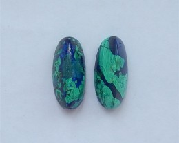 53ct New Design Beautiful Azurite Earring Pair(18041812)