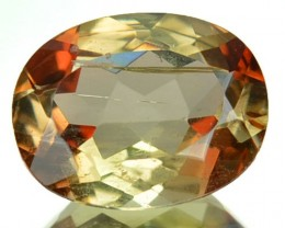 1.62 Cts Natural Double Shade Color Andalusite Oval Cut Brazil Gem
