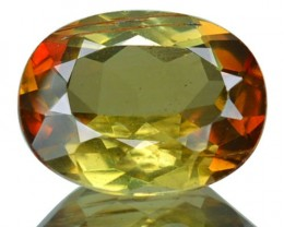 1.76 Cts Natural Double Shade Color Andalusite Oval Cut Brazil Gem