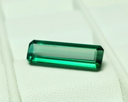 NR- 1.70 Cts Tourmaline Blueish Green Flawless Gemstone
