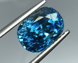 10.38 CT BLUE ZIRCON GIL CERTIFIED WITH SPARKLING LUSTER GEMSTONE