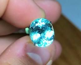 3.50 cts Ocean Blue Tourmaline ~ Paprok Mine $450 ~D3