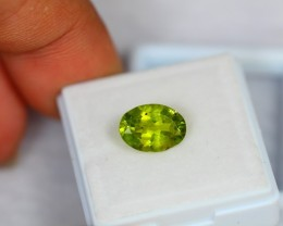 2.41Ct Green Peridot Oval Cut Lot LZB444