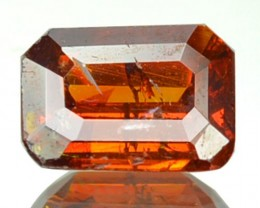 ~RARE~ 0.77 Cts Natural Sunset Orange Sphalerite Octagon Cut Spain