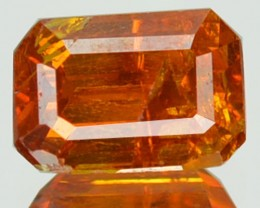 ~RARE~ 1.27 Cts Natural Sunset Orange Sphalerite Octagon Cut Spain