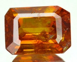 ~RARE~ 1.06 Cts Natural Sunset Orange Sphalerite Octagon Cut Spain