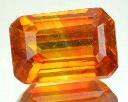 ~RARE~ 1.63 Cts Natural Sunset Orange Sphalerite Octagon Cut Spain