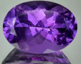 12.36 Cts Natural Purple Amethyst Oval Cut Bolivian Gem