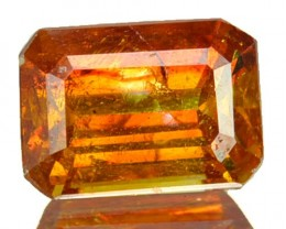 ~RARE~ 2.42 Cts Natural Sunset Orange Sphalerite Octagon Cut Spain