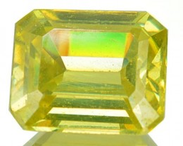 ~RARE~ 2.36 Cts Natural Canary Yellow Sphalerite Octagon Cut Spain