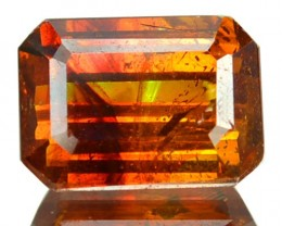 ~RARE~ 2.64 Cts Natural Sunset Orange Sphalerite Octagon Cut Spain