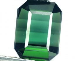 1.76 Cts Natural Neon Green Tourmaline Octagon Cut Mozambique Gem