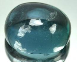 5.12 Cts Natural Indicolite Blue Tourmaline Cabochon Mozambique