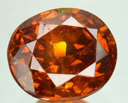 ~RARE~ 1.62 Cts Natural Sunset Orange Sphalerite Oval Cut Spain