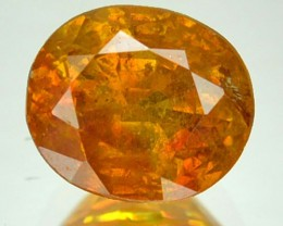~RARE~ 2.65 Cts Natural Sunset Orange Sphalerite Oval Cut Spain