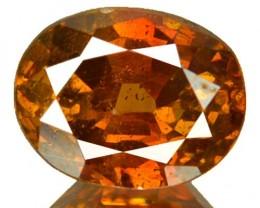 ~RARE~ 2.66 Cts Natural Sunset Orange Sphalerite Oval Cut Spain