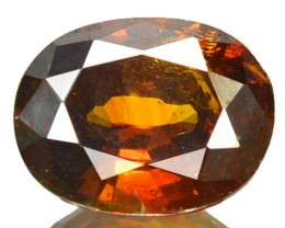 ~RARE~ 2.78 Cts Natural Sunset Orange Sphalerite Oval Cut Spain