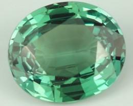 1.68 ct GRS CERTIED Rare Not Enhanced Medium Bluish Green Oval Single Alex