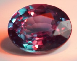 0.37 CT GIA CERTIFIED NATURAL BRAZIL ALEXANDRITE !!! TOP COLOR CHANGE