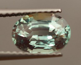 1.84 CT GIA CERTIFIED OVAL SHAPE BRILLIANT STEP CUT NATURAL ALEXANDRITE