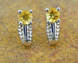 Natural Citrine 925 Sterling Silver Earrings (SSE0365)