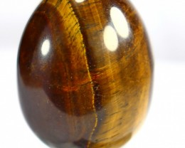 456CT Natural Tiger Eye Carved Egg Stone Special Shape