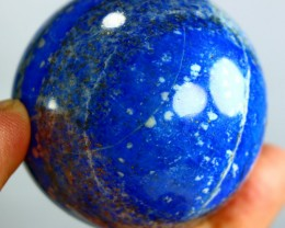976CT Natural lapis  lazuli Carvid Ball Stone Special Shape