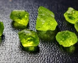 32 CT Natural - Unheated Green Peridot Rough Lot