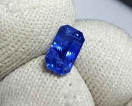 CERTIFIED 1.28 CTS NATURAL BEAUTIFUL CORNFLOWER BLUE SAPPHIRE CEYLON SRI LA