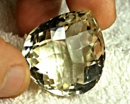 118.39 Carat Cushion Cut VVS Ivory African Quartz - Gorgeous