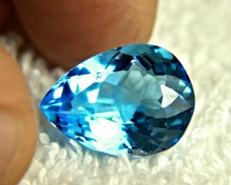 15.98 Carat Blue Brazil Topaz Pear - Gorgeous