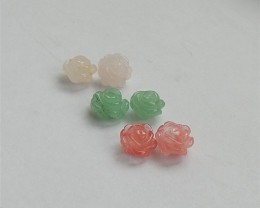 12ct Beautiful Volcano Cherry Quncortz Green Aventurine And Rose Quartz  3P