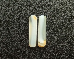 12ct New Design Natural Rare Agate bar Pair(18042008)