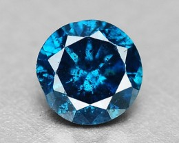 0.06 Cts Natural Blue Diamond Round Africa