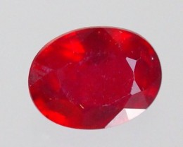 2.46Cts Madagascar Natural Oval Red Ruby Gemstone