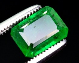 1.55 Ct Top Grade Natural Vivid Green Emerald ~ Swat