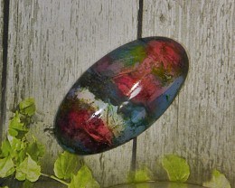 43.00 CT Beautiful Abstract Motiff Picture Jasper Gemstone