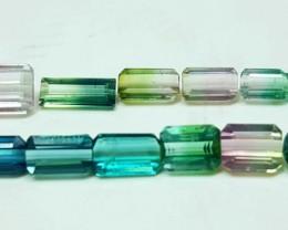 11.60 Cts Tourmaline Bi Color Gemstones Parcel ~~~ Madagascar
