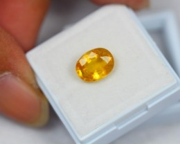 3.32Ct Natural Yellow Sapphire Oval Cut Lot LZ494