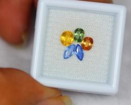 1.87Ct Natural Fancy Color Sapphire Mix Cut Lot LZ496