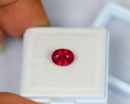 1.79ct Natural Ruby Oval Cut Lot GW1237