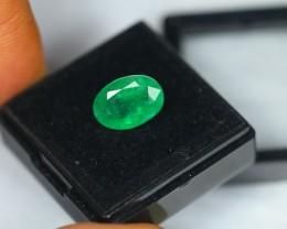 3.16ct Natural Zambia Emerald Oval Cut Lot GW1239