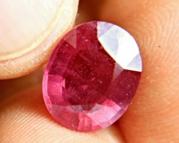 7.11 Carat Fiery Cherry Ruby - Superb
