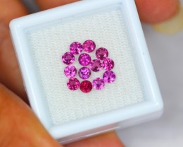 1.89ct Natural Rhodolite Garnet Round Cut Lot GW1273