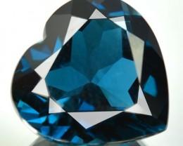 CUTE HEART 13.24 Cts Natural London Blue Topaz Brazil Gem
